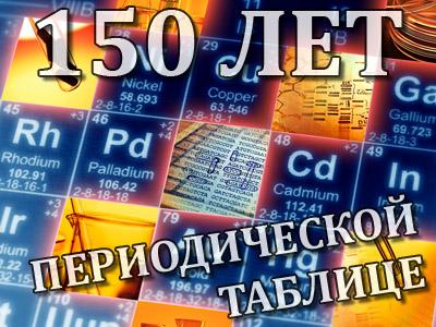 150 лет таблице Менделеева
